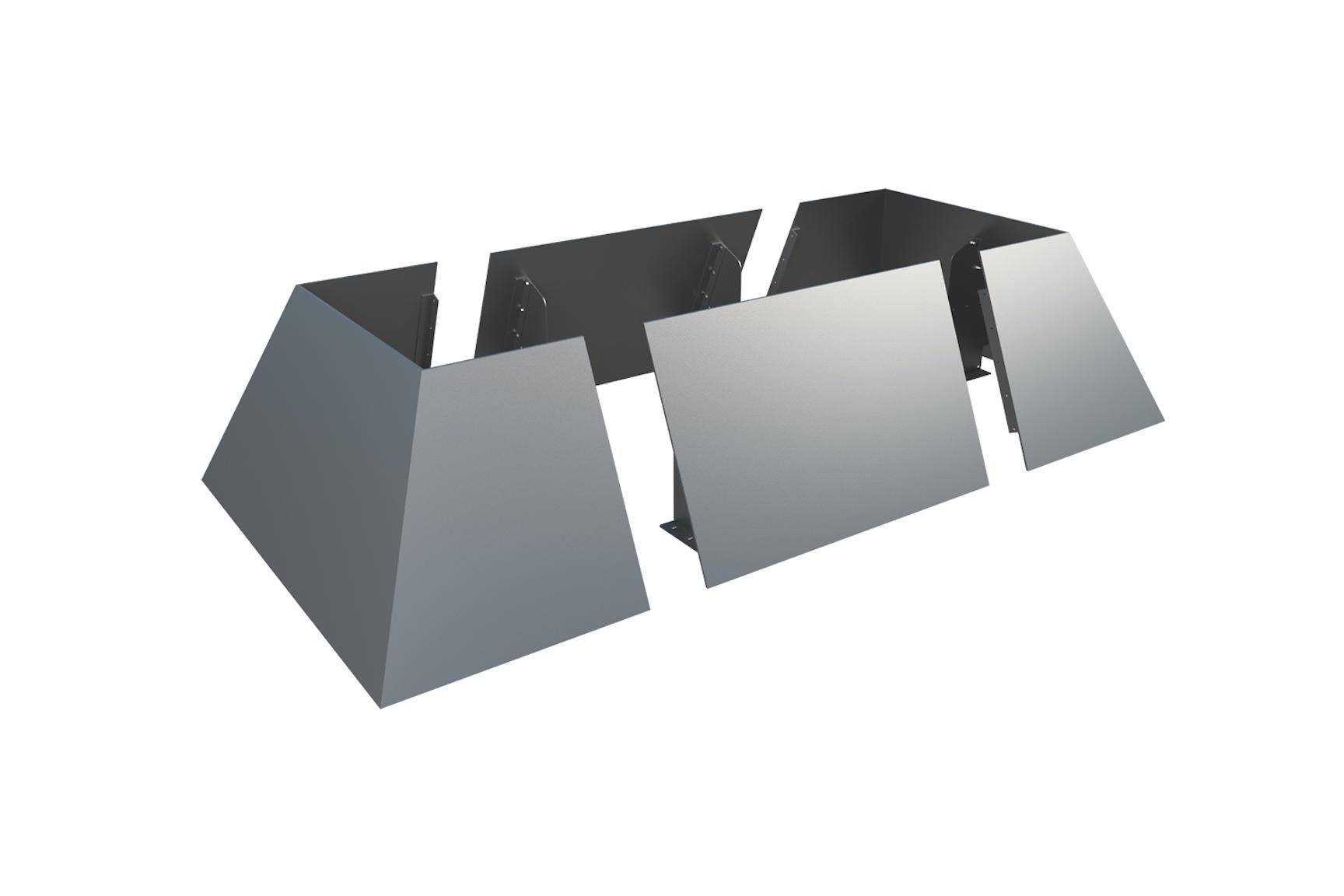 Angular Planter Walls - Stainless Steel