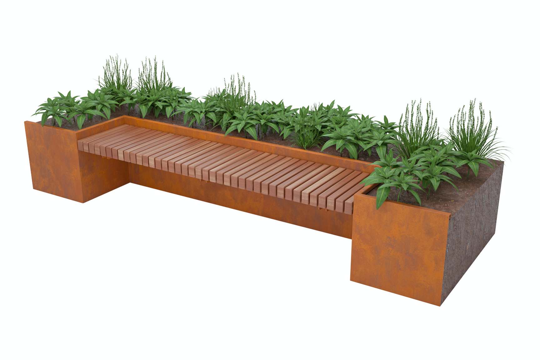 Catilever Inset Bench
