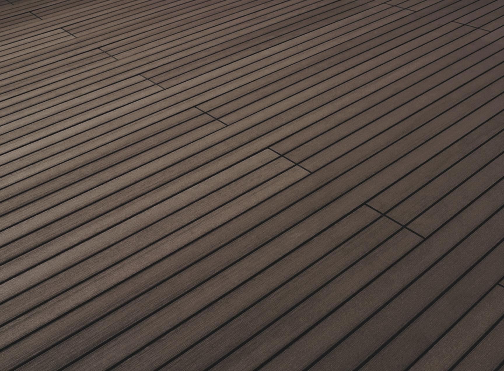 Terrafina composite decking yacht redbrown surface finish